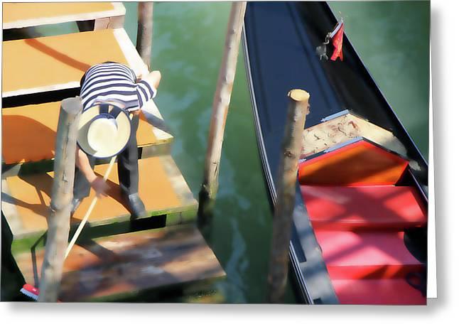 Gondola Morning Chores Greeting Card
