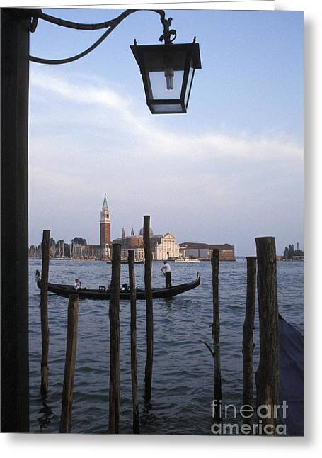 Gondola Near Piazza San Marco Venice Greeting Card