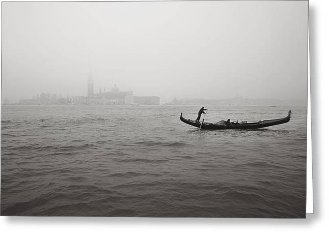 Gondola Nella Nebbia 193042x Greeting Card by Marco Missiaja