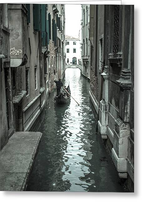 Gondola On Venice Canal Greeting Card