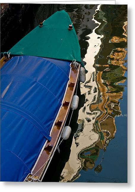 Gondola Reflection Greeting Card