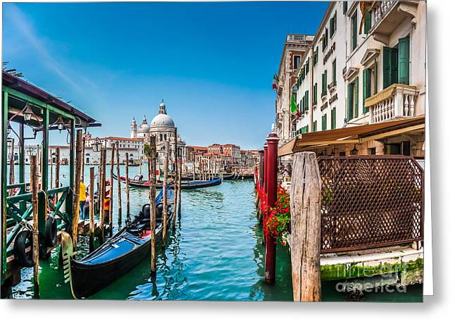 Gondola Ride In Venice Greeting Card by JR Photography