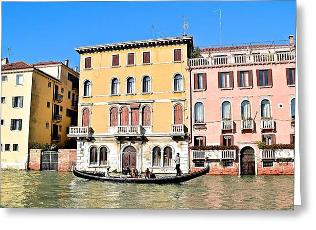 Gondola Ride On A Sunny Day Greeting Card by Frozen in Time Fine Art Photography