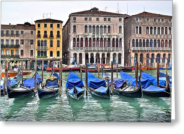 Gondolas Galore Greeting Card by Frozen in Time Fine Art Photography