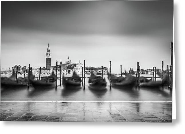 Greeting Card featuring the photograph Gondolas In The Waves by James Billings