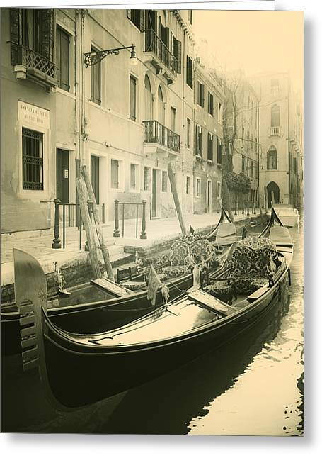 Gondolas Greeting Card by Joana Kruse