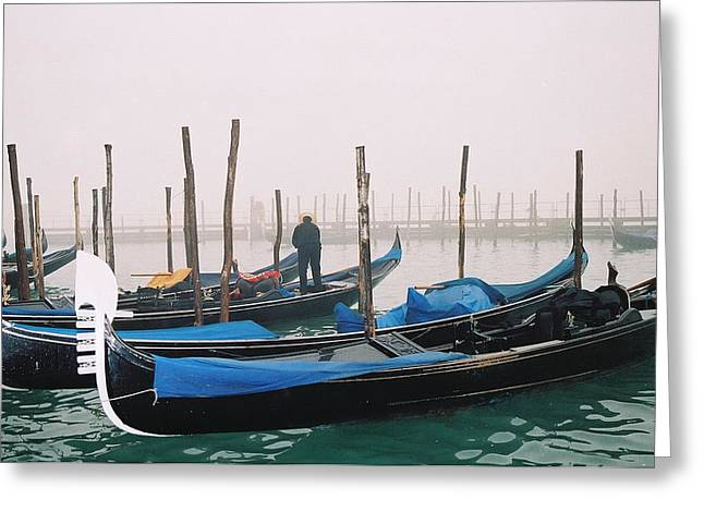 Kathy Schumann Greeting Cards - Gondolas Greeting Card by Kathy Schumann