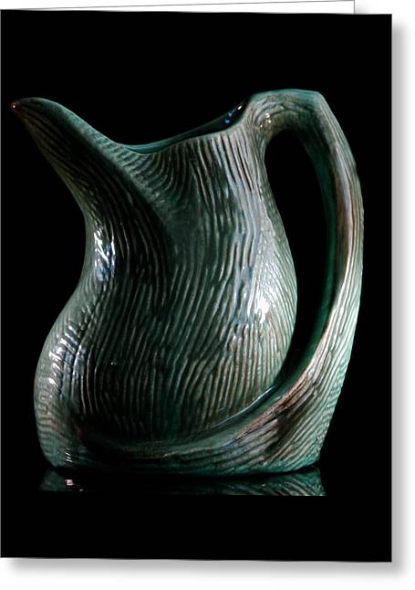 Gondor Pottery Pitcher Greeting Card by Julie Mangano