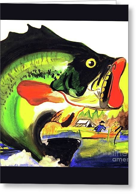 Gone Fishing Greeting Card by Linda Simon