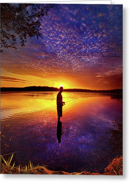Gone Fishing Greeting Card by Phil Koch