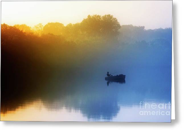 Greeting Card featuring the photograph Gone Fishing by Scott Kemper