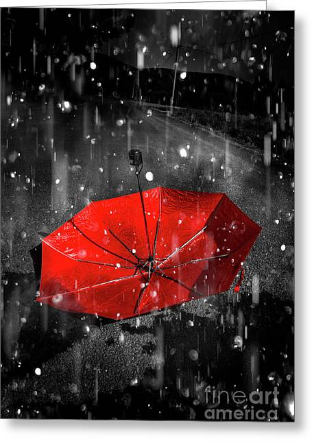 Gone With The Rain Greeting Card
