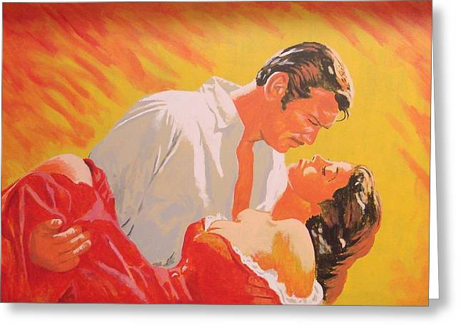 Gone With The Wind Greeting Card by Bob Gregory
