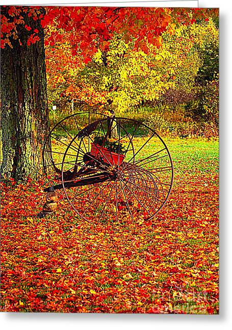 Hay Rake Greeting Cards - Gone with the Wind Greeting Card by Diane E Berry