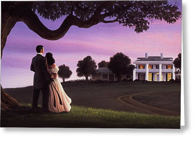 Gone With The Wind Greeting Card by Jerry LoFaro