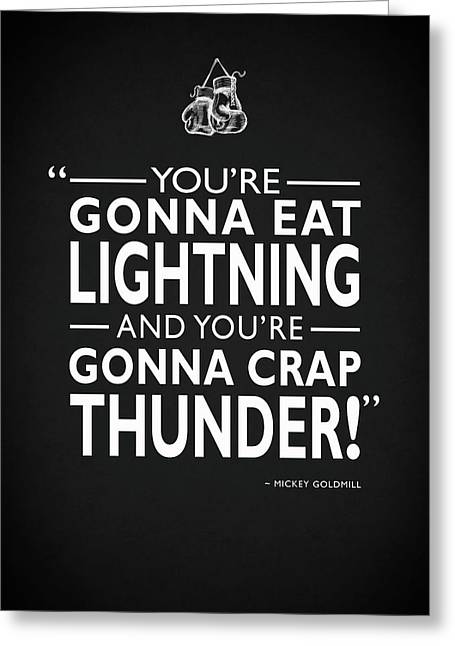 Gonna Eat Lightning Greeting Card by Mark Rogan