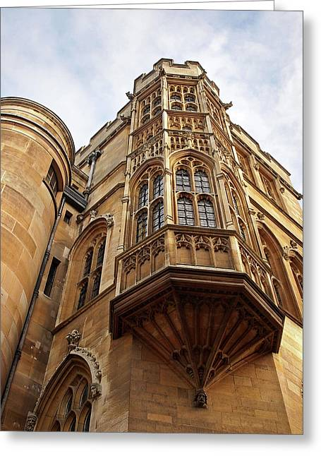 Gonville And Caius College Library Cambridge Greeting Card by Gill Billington