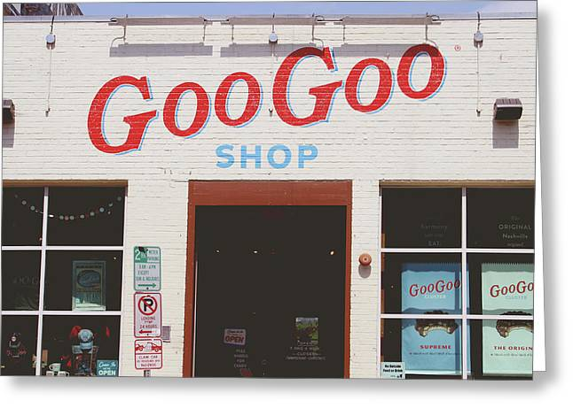 Goo Goo Shop- Photography By Linda Woods Greeting Card by Linda Woods