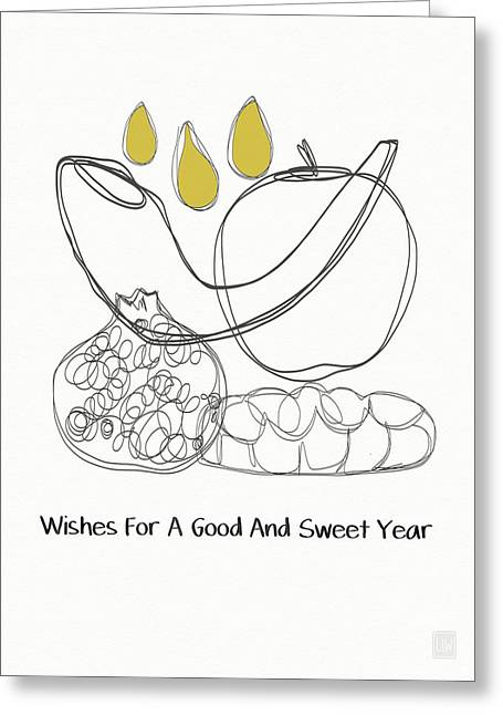 Good And Sweet Year- Art By Linda Woods Greeting Card by Linda Woods