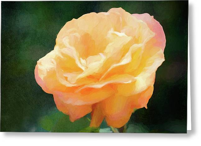 Good As Gold Painted Rose Greeting Card