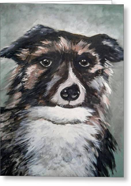 Good Dog By Christine Lites Greeting Card