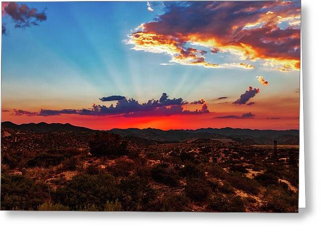 Good Evening Arizona Greeting Card