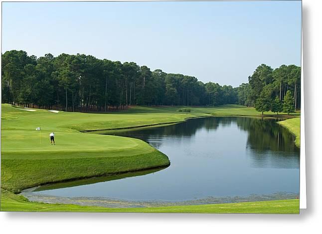 Good Golf Day Greeting Card by Andrew Kazmierski