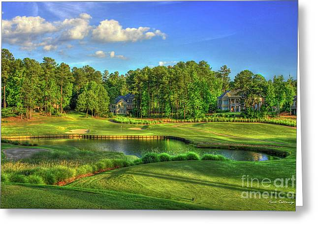Good Golf The Landing Reynolds Plantation Golf Art Greeting Card by Reid Callaway