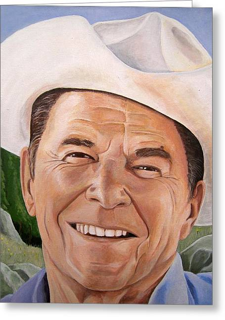 Good Guys Wear White Hats Greeting Card by Kenneth Kelsoe