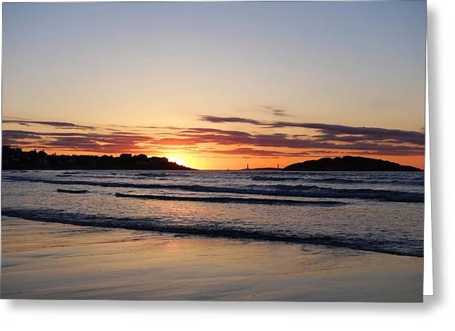 Good Harbor Beach At Sunrise Gloucester Ma Greeting Card