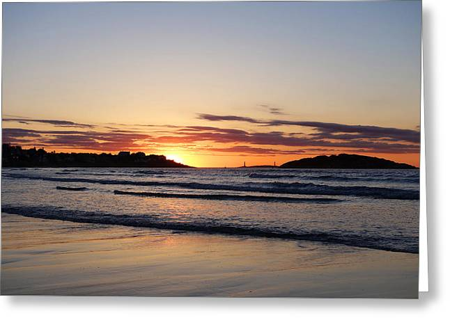 Good Harbor Beach At Sunrise Gloucester Ma Greeting Card