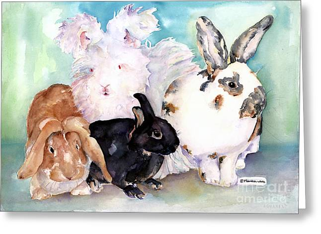Pat Saunders-white Greeting Cards - Good Hare Day Greeting Card by Pat Saunders-White