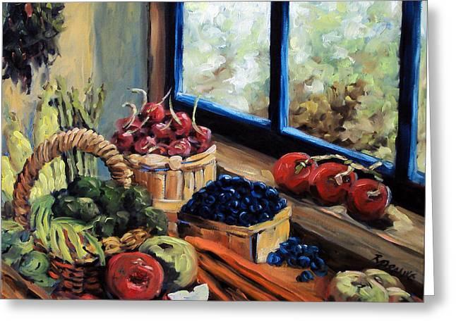 Good Harvest Greeting Card by Richard T Pranke