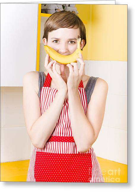 Good Health Happiness From A Fresh Fruit Smile Greeting Card