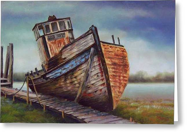 Ship Pastels Greeting Cards - Good Hope Forgotten Greeting Card by Marcus Moller