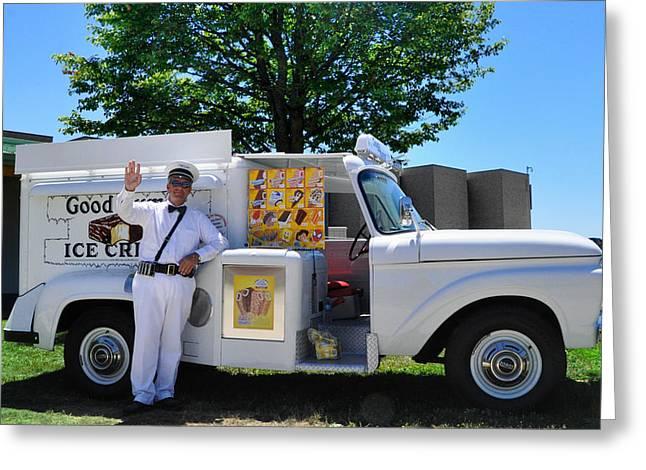 Strasburg Greeting Cards - Good Humor Man Greeting Card by Bill Cannon