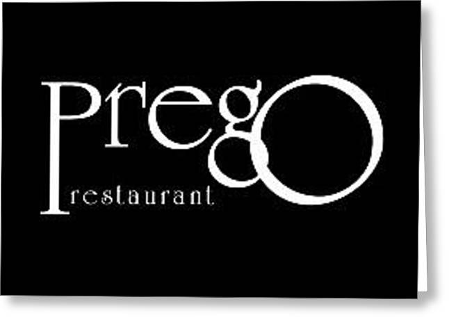 Good Italian Restaurants Perth Greeting Card