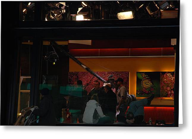 Good Morning America Commercial Break Greeting Card by Rob Hans