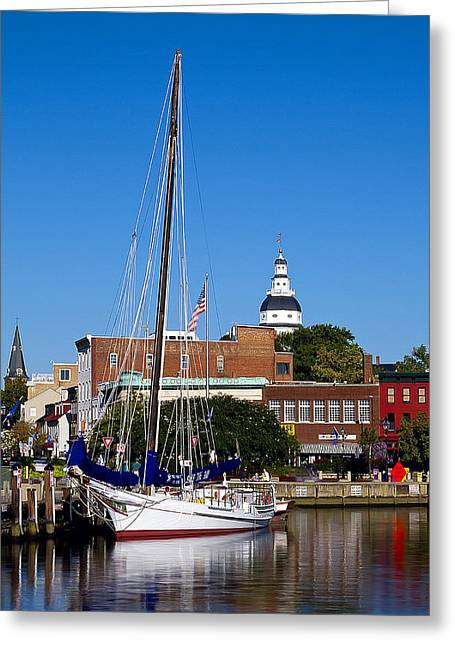 Good Morning Annapolis Greeting Card by Edward Kreis