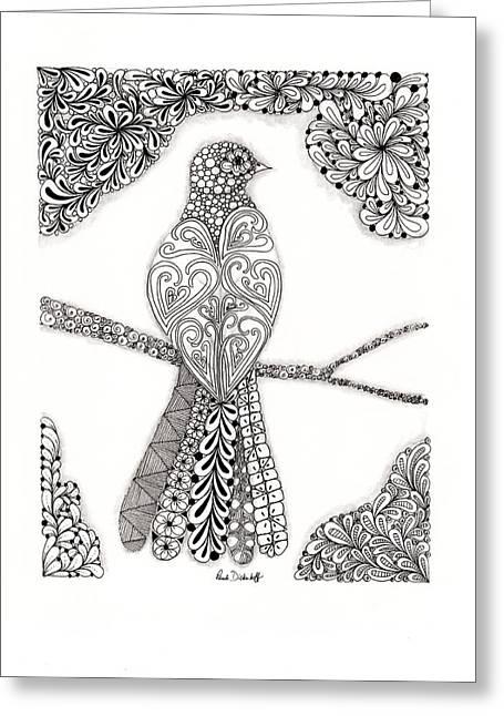 Good Morning Birdie Greeting Card by Paula Dickerhoff