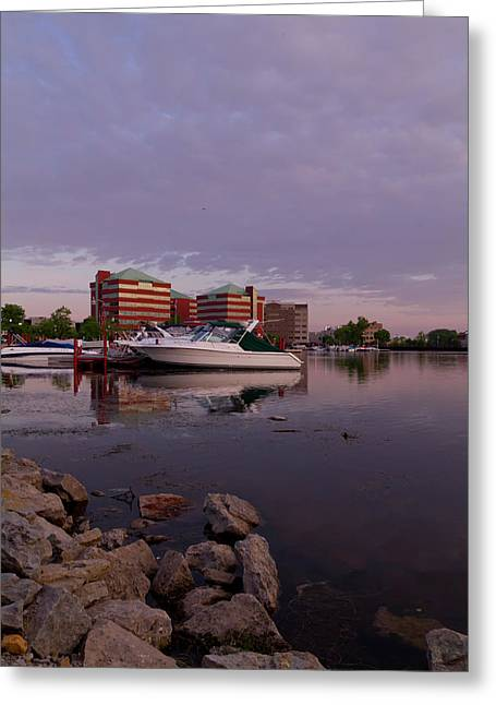 Greeting Card featuring the photograph Good Morning Harbor by Joel Witmeyer