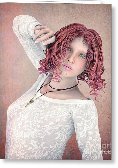 Greeting Card featuring the digital art Good Morning by Jutta Maria Pusl