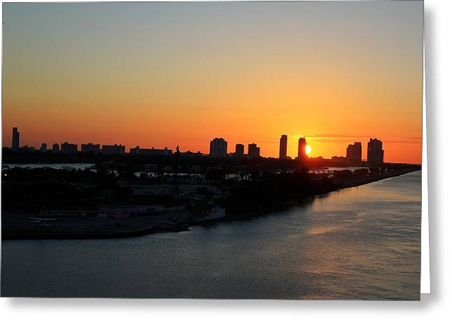 Good Morning Miami Greeting Card by Shelley Neff