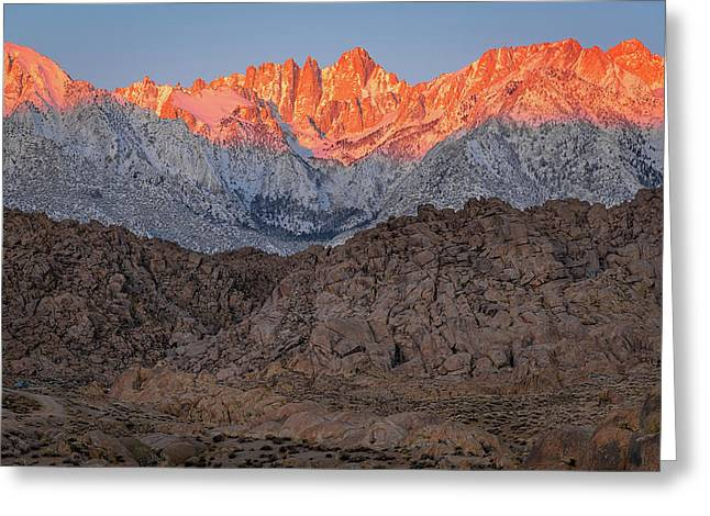 Greeting Card featuring the photograph Good Morning Mount Whitney by John Hight