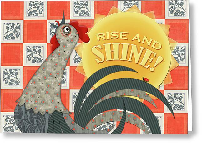 Good Morning Rooster Greeting Card