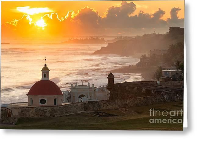 Good Morning San Juan Greeting Card by Ernesto Ruiz