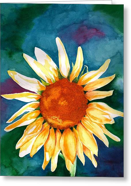 Greeting Card featuring the painting Good Morning Sunflower by Sharon Mick