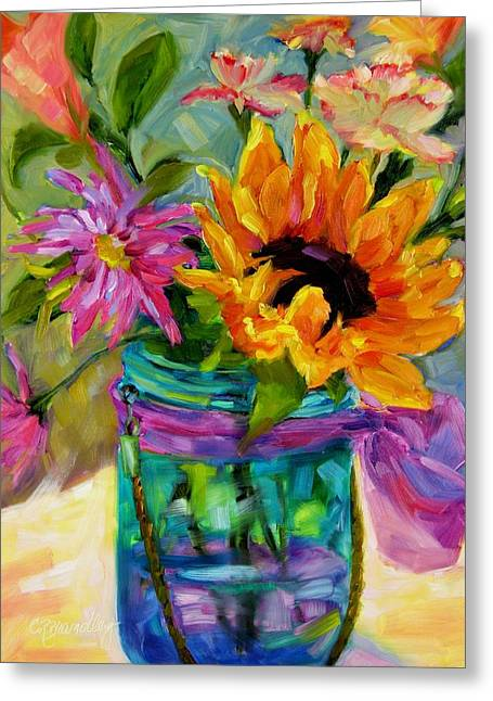 Greeting Card featuring the painting Good Morning Sunshine by Chris Brandley