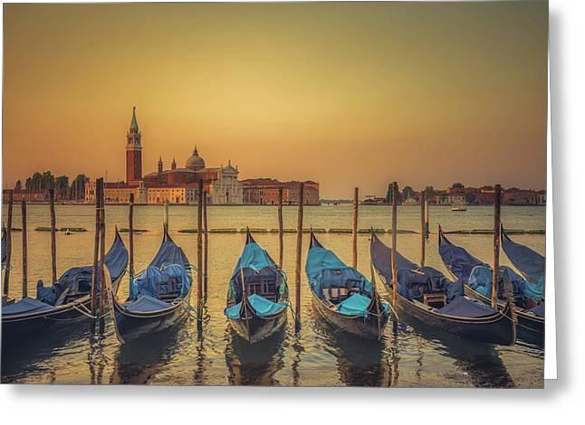 Good Morning Venice Greeting Card by Chris Fletcher