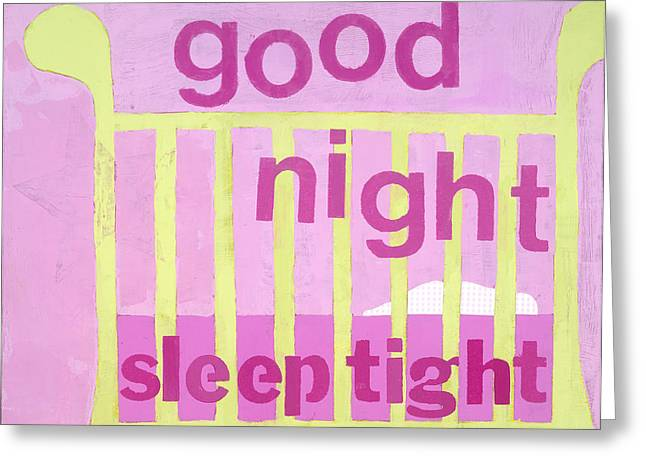 Good Night Baby Greeting Card by Laurie Breen